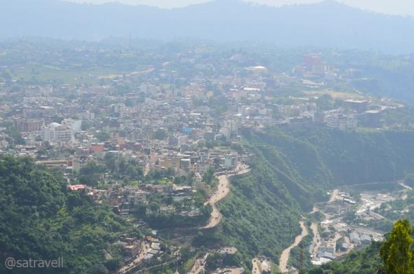 View towards Katra town
