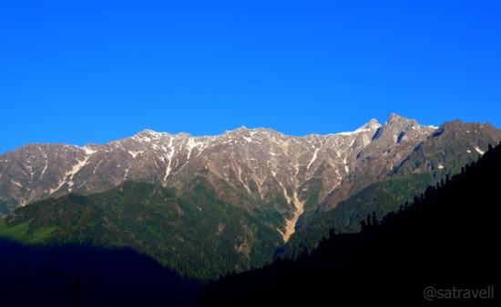 Northern arm of Bara Banghal Range captured from Kothi Ridge