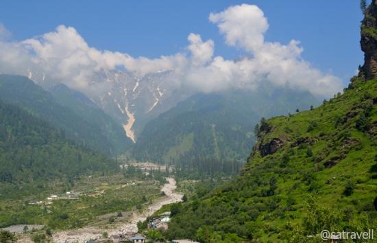 View towards the Halindi and Sarai Nala Valleys