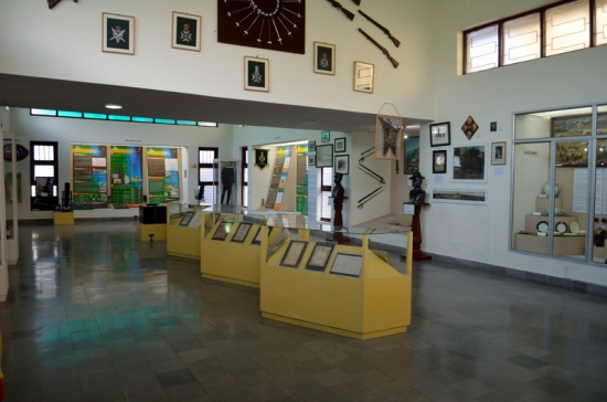 Inside the Garhwal Regimental Museum.