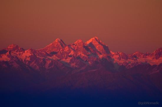 The 6596 m Neelkantha (Badrinath) towards right
