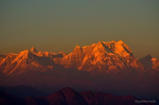 Glittering Chaukhamba massif