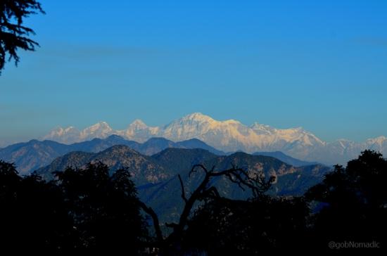 L to R: Nanda Ghunti (6340m), Roung Tee (6370m) and Trishuli (7120m)