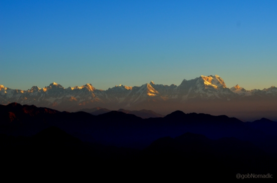 The shining Central Himalayas in the morning