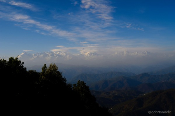 A portion of the Great Himalayan Panorama captured from the Zero Point