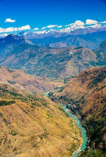 The mountainside of Thanadhar commands a panoramic view of the Satluj Valley. Photo Credit Sarabjit Lehal
