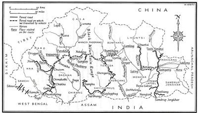An insert in the book maps her travels through Bhutan