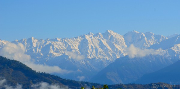 The Great Himalayan Range as observed from Thanadhar