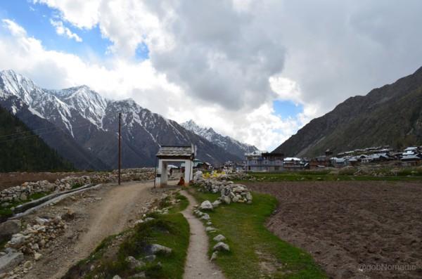 The settlement of village Chitkul