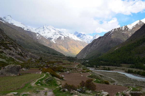 The view from the village would remind one of trans-Himalayan mountain-scape