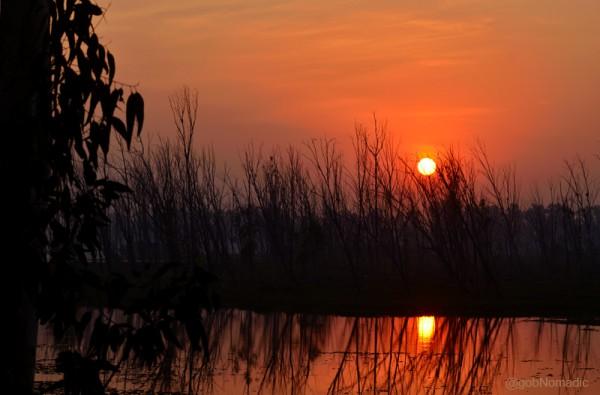 Sun down at Bhindawas