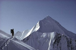 Culled from the author's website, Panchachuli II in the backdrop