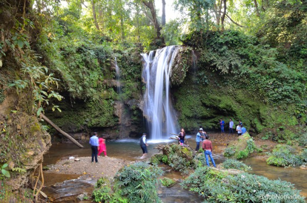 The popular Corbett Falls are located a little off the main road in the Nayagaon Range