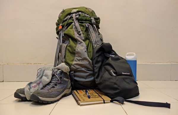 Apart from a 60L duffle bag, this is what I carried