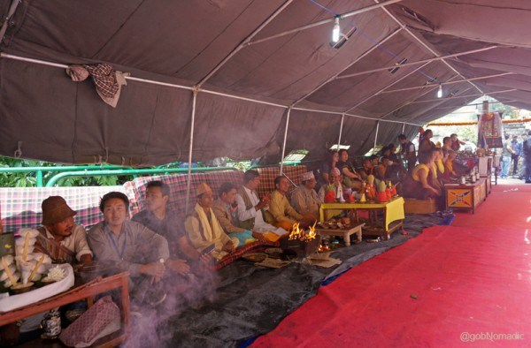 Representing the three chief communities of Sikkim, the puja setups at the venue