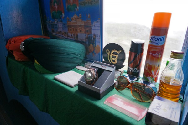 Babaji's belongings inside the bunker