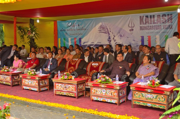 The fifth time Chief Minister of Sikkim, Sh PK Chamling along with her better half and his cabinet as well as state assembly colleagues