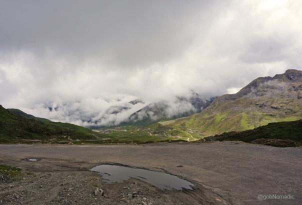 View towards the Jelepla and Kupup Valley down below the legend of soldier saint baba harbhajan ji