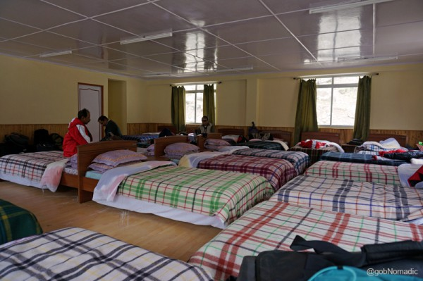 Our dormitory at Sherathang