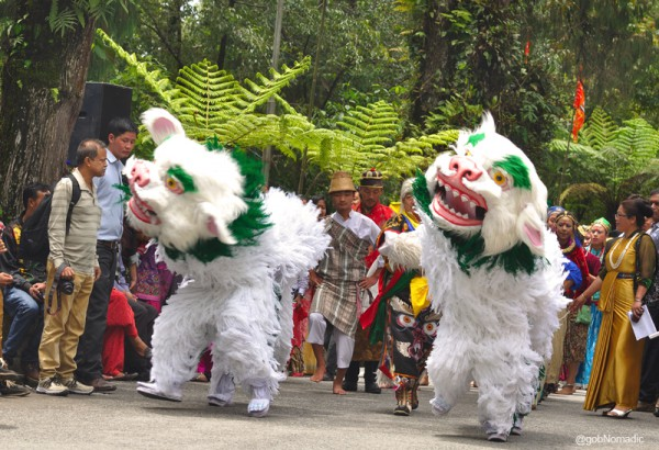 The program begins with the Singhi Chham, a Bhutia folk dance linked to forming a snowlion, a significant cultural symbol of the state