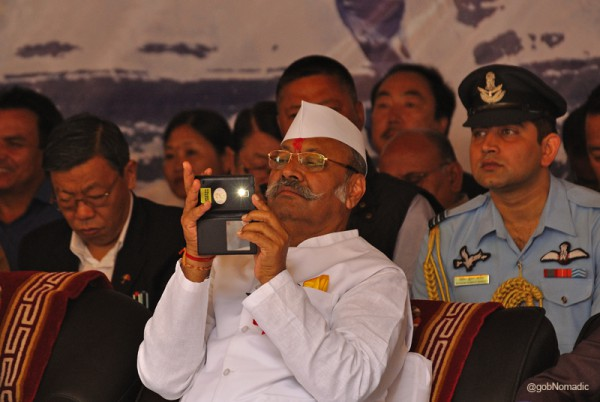 Sh SD Patil, Governor of Sikkim engrossed in the cultural program