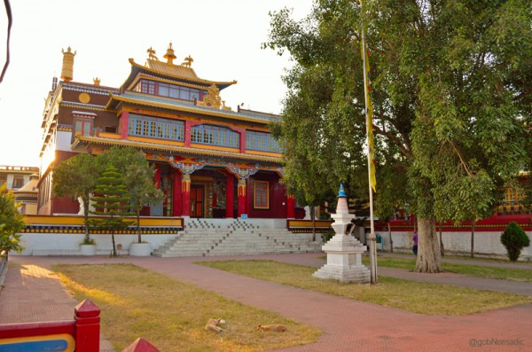 The main assembly hall of the Menri Monastery