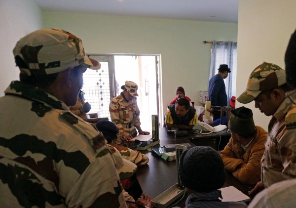 Medical check-up on the first day at Sherathang
