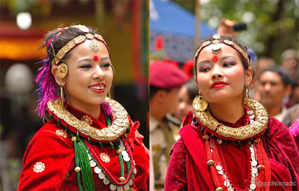 Girls from the Nepalese community of Sikkim