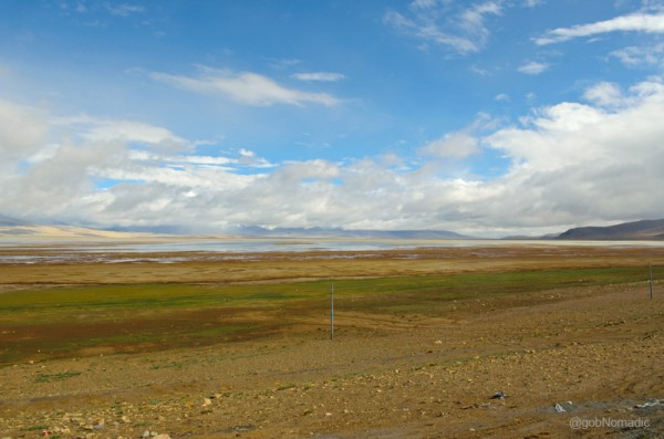 By the Dochen Tso; the weather opened a bit but distant view was still cloudy