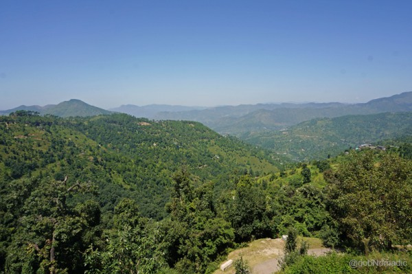 Chail ridge at the far end of the frame