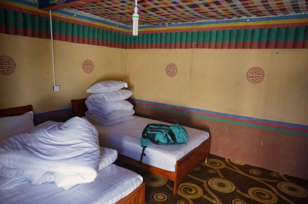 Inside our room at Zhongba