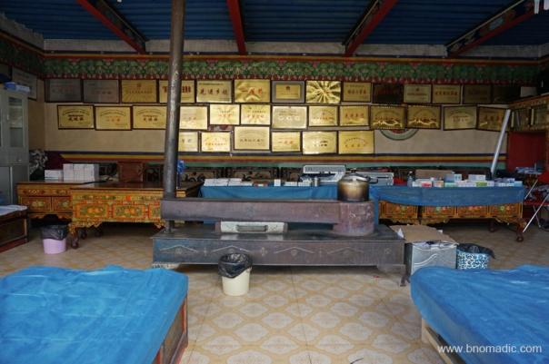 Inside the infirmary at Sangsang