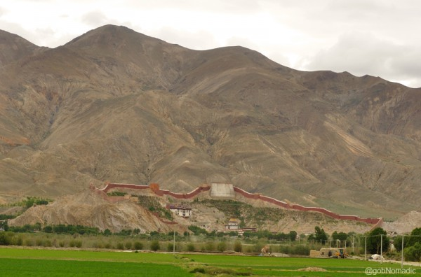The ninth century Pelkor Chode Monastery and Kumbum, believed to be the largest such structure in Tibet