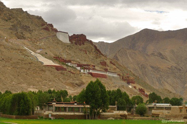 The fourteenth century Tsechen monastery near Gyantse