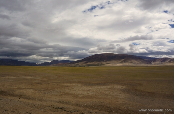 Endless expanse of high-altitude terrain