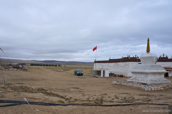 Chinese military encampment behind the monastery
