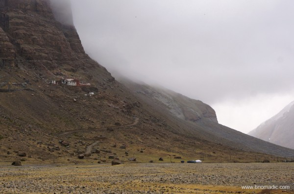 Rebuilt after the cultural revolution, the thirteenth century Nyenri Gompa. More pics at Flickr