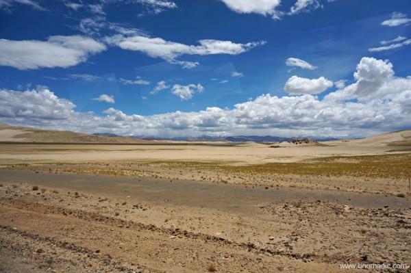 Semi-desert!; near Zhongba