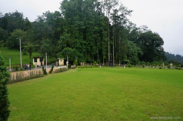 The sprawling greens of Raj Bhawan