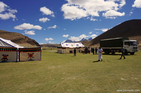 One of the campsites for lunch