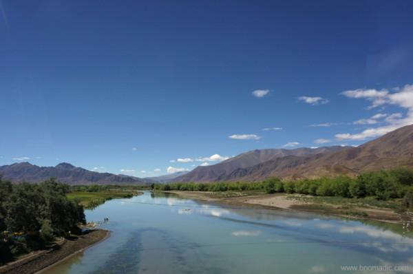 A tributary to the Brahmaputra (Yarlung Tsangpo Chu)