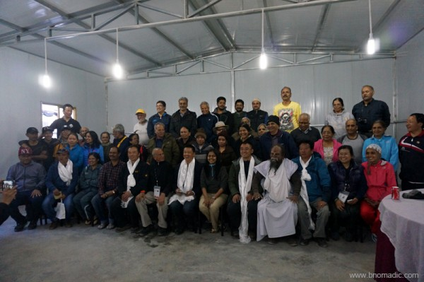 Batch One Yatris with Chinese and Tibetan staff