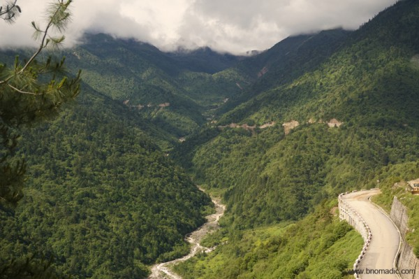 The green Chumbi Valley and the road to the Nathula