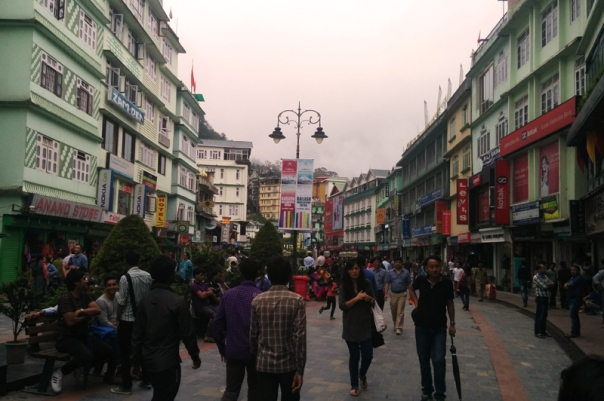 The MG Road market of Gangtok