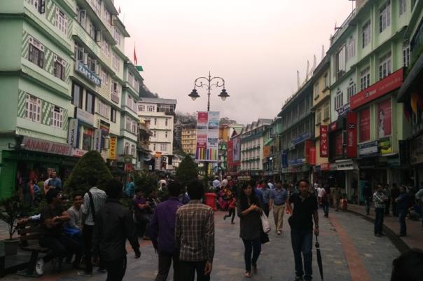 The MG Road market of Gangtok