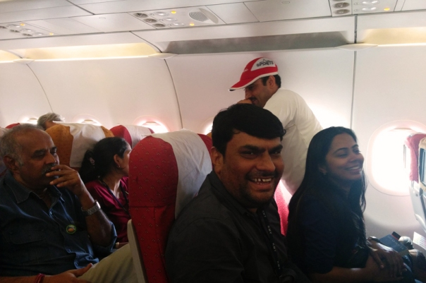 Inside the Air India flight