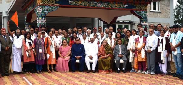 Like a family; elated faces at the Raj Bhawan