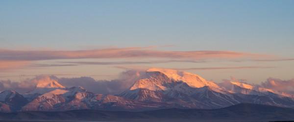 Glittering Gurla Range towering above Barkha Plains