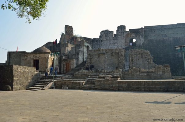 The main courtyard inside the Fort complex