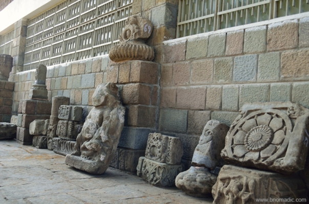 Some select rubble from the Fort lined outside the ASI museum. It must be mentioned that the sculptural friezes were inset in the walls of these temples which apparently were of a much later period.